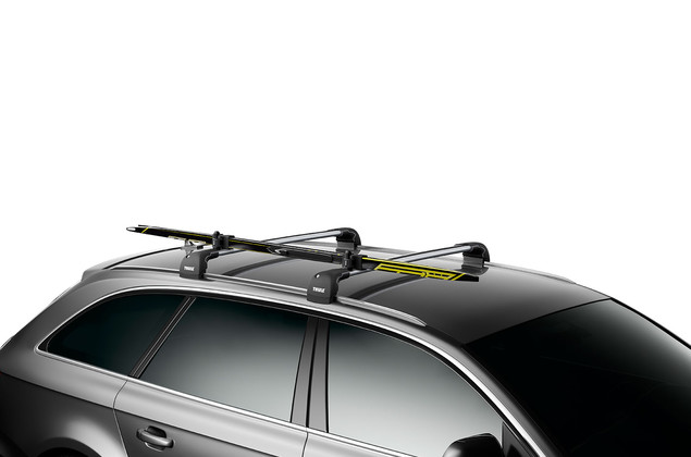 For safe, transport of cross-country skis.