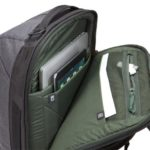 """Protect a laptop (15"""" MacBook®/15.6"""" PC) and 10"""" tablet in dedicated, padded slip pockets"""